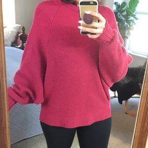 URBAN OUTFITTERS PINK OVERSIZED SOFT COZY SWEATER